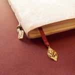 Livre d'or de mariage, reliure simple, cuir.